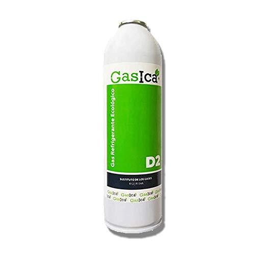REPORSHOP - 1 Botella Gas Ecologico Gasica D2 312G Sustituto R12, R134A Freeze Organico
