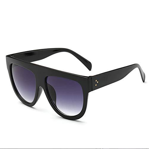 THJM Gafas De Sol Con Montura Grande Gafas De Sol Con Personalidad Redonda Para Mujer De Moda 14.1X14.5CM