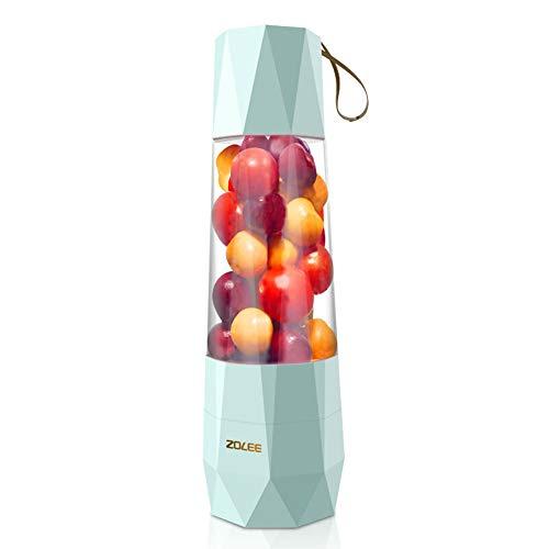 Mini Entsafter,Multifunktionale Portable Blender,USB Ladeweg, Geeignet Für Obst, Milchshakes, Babynahrung Geeignet für Outdoor, Sport und Familie 400 ml(Grün)