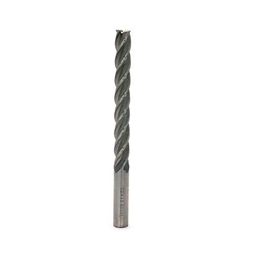 Rannb Schaftfräser/Bohrer/Schneidwerkzeug, 4 Rillen, extra langer Schaft, 12 mm Schnittdurchmesser