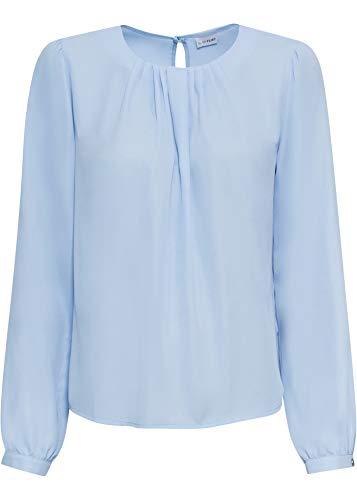 bonprix Bluse mit Falten am Ausschnitt perlblau 52 für Damen