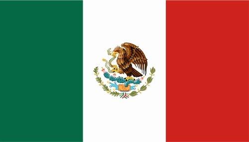 Kiwistar Autoaufkleber Sticker Fahne Flagge Aufkleber 10cm Mexiko laminiert sehr Lange Haltbar