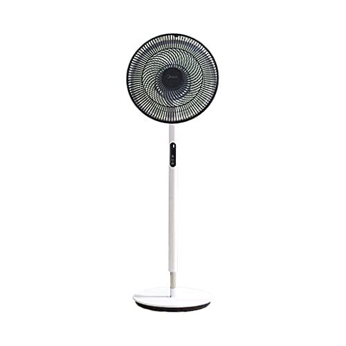 WXIANG El Nuevo Ventilador de Soporte Ventilador automático de 9 Horas con Ventilador Ajustable del Temporizador con Control Remoto Ajuste de 12 velocidades 45W Ventilador de Pedestal Cómodo