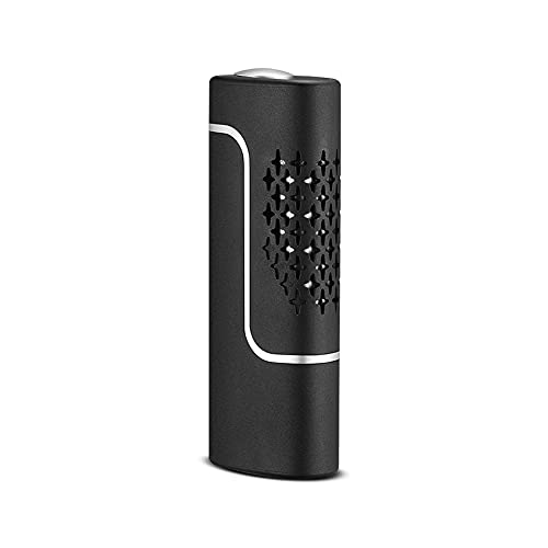 ERWEI Cenicero portátil para automóvil, un artefacto Que no Puede Dejar Caer la Ceniza al Conducir un Cigarrillo, Juego de Cigarrillos de Encendido con una Sola tecla USB Ceniza,Negro