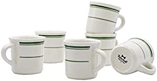 Tuxton Home THTGB038-6B Green Bay Ceramic Coffee Mug, 9-Ounce, Stripe