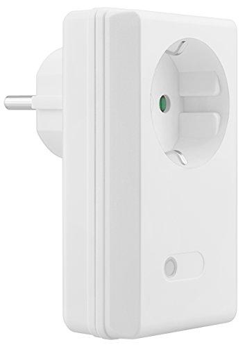 mumbi 10191 1100 Watt Funksteckdose Erweiterung 4-Kanal Set der Serien FS306 / FS300 / FS600-Plug & Play 1 Funkschalter, 230 V