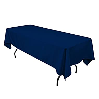 Gee Di Moda Rectangle Tablecloth - 60 x 102 Inch - Navy Blue Rectangular Table Cloth for 6 Foot Table in Washable Polyester - Great for Buffet Table, Parties, Holiday Dinner, Wedding & More