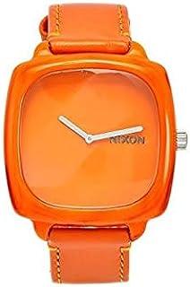 نيكسون شاتر ساعة كاجوال للجنسين ، حزام جلد ، برتقالي - A167877