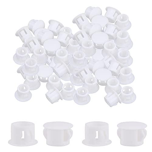 200 Tapones de PláStico Para Agujeros Blanco Tapones Para Orificios de PláStico Blancos Tapones Para Orificios A PresióN Para Orificios Para Muebles Tapones de Extremo Para TuberíAs de Cerca 12mm