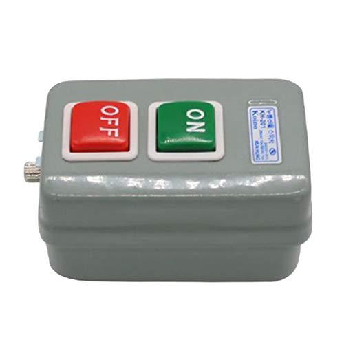 joyMerit Caja de Interruptor de Botón Pulsador de Transferencia de 1 Pieza Motor Eléctrico 3P 15A / 250V KH-201