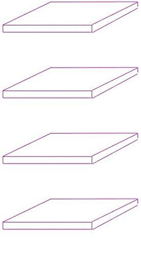 Glaseinlegeboden 4er-Set Glasboden für 2 TRG. Standvitrine für C1084 / C1019