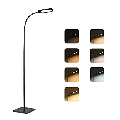 Floor Lamp, Lamps for Living Room TECKIN Reading Lamp Dimmable Adjustable Standing Lamp for Bedroom Office, 4 Level Brightness & 3 Color Temperatures