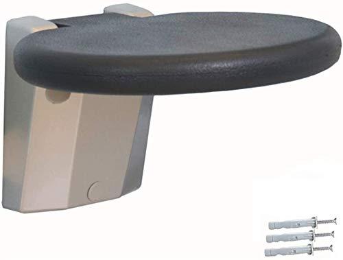 SUOMO Badhocker Wandmontage Duschsitz PU-Sitzkissen Klappbarer Badesitz Duschhocker Integrieren Forming Druckfest Feuchtigkeitsbeständig Duschsitz für Ältere Schwangere Frauen (Tragender 300kg)