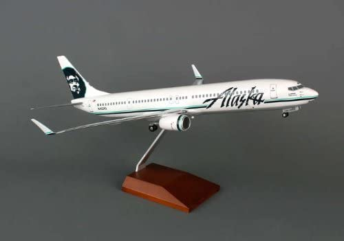 Daron Skymarks Max 57% OFF Alaska 737-900Er Aircraft Wood with Stand and Gea Max 86% OFF