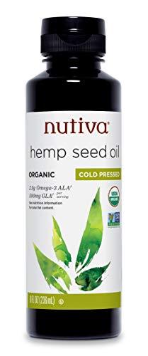 Nutiva Organic Cold-Pressed Unrefined Hemp Oil, 8 Ounce