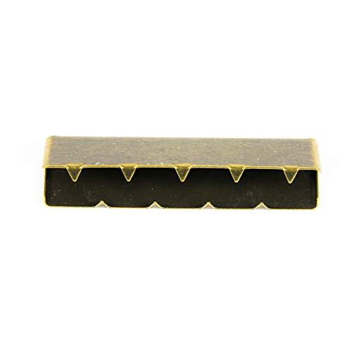 Metall-Endstück für Gurtband 40 mm, messing - Preis gilt für 1 Stück