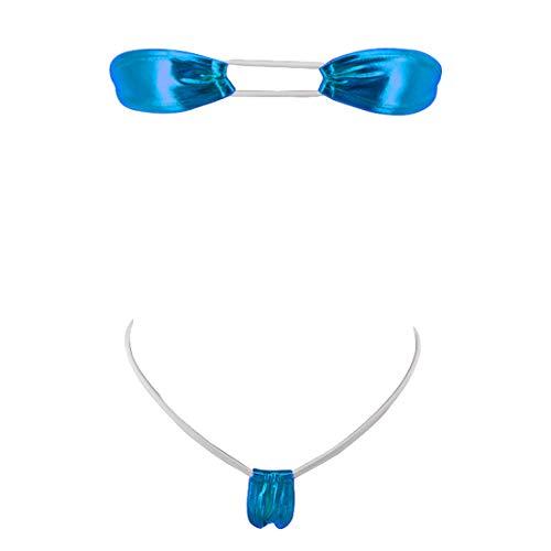 SHERRYLO Micro Bikini String Tanga Badeanzug Damen Bademode Mini Swimsuit Minimal Coverage