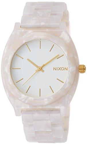 [ニクソン]NIXON TIME TELLER ACETATE: WHITE GRANITE/GOLD NA3272031-00 【正規輸入品】