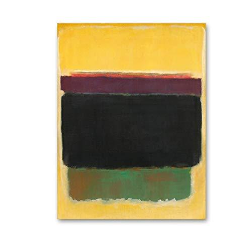 LiMengQi2 Vintage Abstracto Rojo Amarillo Colorido Maestro Impresiones en óleo Lienzo Pintura Carteles Arte de la Pared imágenes para Sala de Estar decoración del hogar (sin Marco)