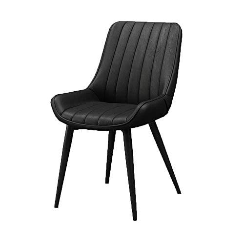 ZCXBHD Scandinavische creatieve vrijetijds- kantoorstoel, rugleuning, ijsbenen, PU-leer, barkruk, make-upkruk, vrije tijd eetbaar