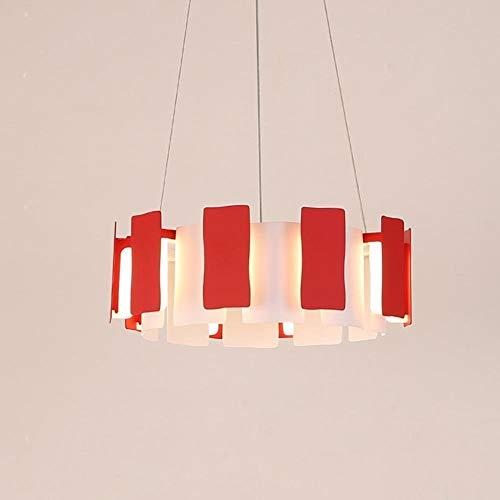 Diseño moderno Colgante de luz LED Personalidad creativa Hierro Acrílico Araña redonda Minimalista Luces de techo Salón Dormitorio Restaurante Café Comedor ¿Lámparas 20W? 40cm