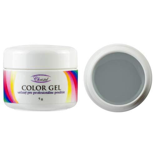 CHRISTEL: UV-kleurgel - Grey Sky - 5 g - grijze kleur - van hoge kwaliteit, geschikt voor professioneel gebruik