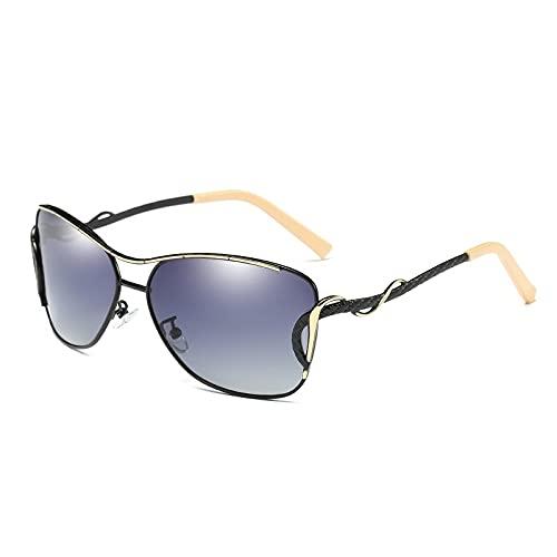 NBJSL Gafas De Sol Polarizadas Para Mujer Gafas De Sol Con Montura Grande Vintage Protección Uv (Caja De Embalaje Exquisita)