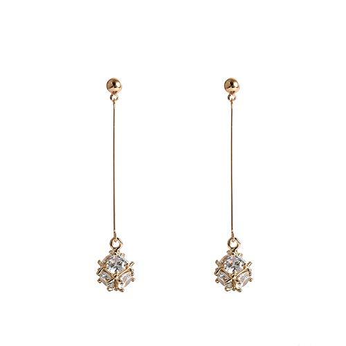Diamant Lange Oorbellen Vrouwelijke Oorbellen Vierkante Oorbellen Vierkante Oorbellen