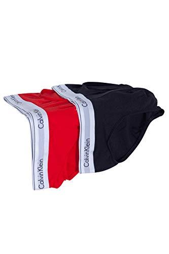 Calvin Klein Underwear Men - 2-pack red and black stretch cotton briefs - Size S