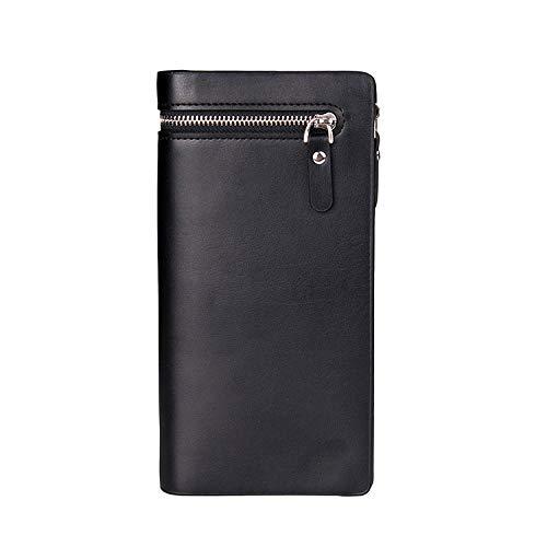 HANGYIKJ Herrenbrieftasche große Kapazität lässig Reißverschluss Lange Brieftasche Kupplung tragbare Multi-Karten-Brieftasche Lange Reißverschluss Kupplung
