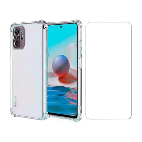 Kit Capa Anti Impacto e Película De Vidro Para Xiaomi Redmi Note 10
