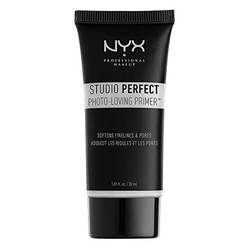 NYX Professional Makeup Prebase de maquillaje Studio Perfect Primer - Clear, Minimiza poros y líneas finas, Tez unificada, Fórmula vegana
