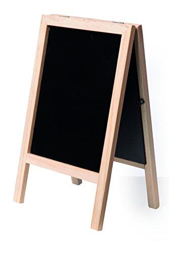 Securit Tableau noir Mini tableau noir Trottoir A5/Poster support, en bois laqué Uni (sbs-b-mni)