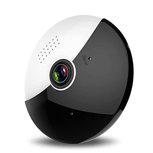 QAZPL Cámara de vigilancia, cámara de Red panorámica inalámbrica de 360 P 960P, Monitor Remoto de teléfono móvil, intercomunicador de Dos vías, múltiples Modos de visualización, Compartir múltiples