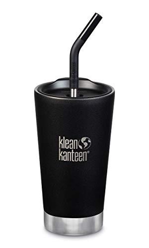 Klean Kanteen Insulated Tumbler 16oz (w/Straw Lid) - Shale Black, 1 EA