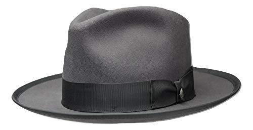 [STETSONステットソン] ハット メンズ フェルトハット ウィペット Whippet Medalist JP Made In USA 復刻 ハイクラウン 秋冬 紳士帽子 TWWPMD-JP267571 (Caribou, 57cm)