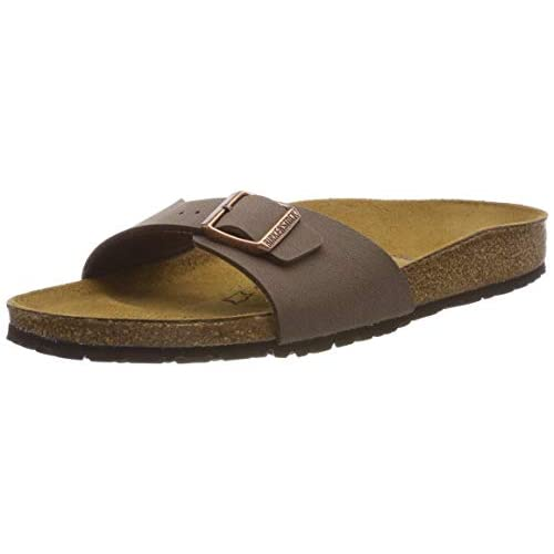 Birkenstock Schuhe Madrid Birko-Flor Nubuk Normal Mocca (040091) 38 Braun