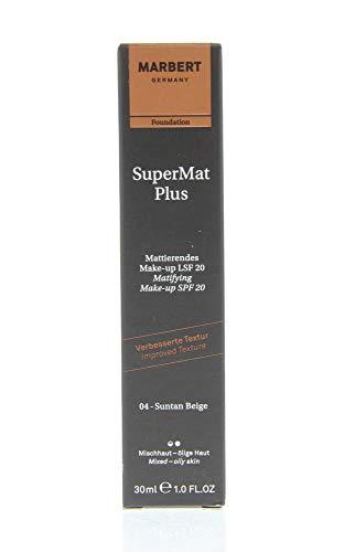 Marbert Super Mat Plus Make Up 04 suntan beige (LSF 20), 1er Pack (1 x 30 ml)
