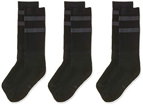 Nike SB Dry Crew SX5760 Skateboarding Socks (3 Pair), Black/Anthracite, Medium