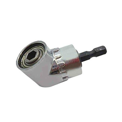 Zilver 105 graden haakse boren extensie graden boren extensie schacht, rechter schacht Boren hoek schroevendraaier snelwissel zeskantschacht