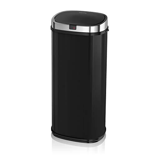 Morphy Richards Quadratischer Sensor-Mülleimer, Metall, schwarz, 42 L