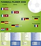 Fußball EM-Planer 2008: Planer für das Sportereignis 2008 mit selbstklebenden Fahnen aller teilnehmenden Nationen