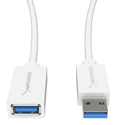 Sabrent Prolunga USB 3.0 22AWG - da A Maschio ad A Femmina [Bianco] 1 metro (CB-303W)