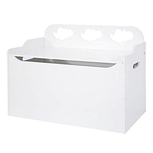 Bainba coffre à jouets nuage, bois blanc, 47 x 80 x 60
