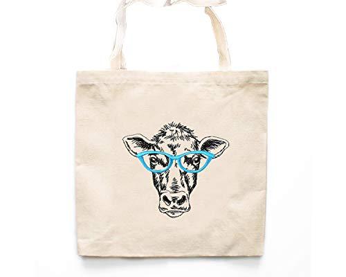 Mucca mucca borsa di tela Tote bag-market Tote bags-hipster bag-grocery bag-book bag-market bag-hipster Tote