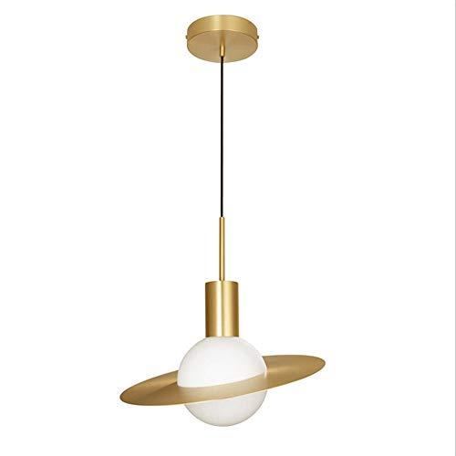 Lámpara colgante de cristal E27 moderna lámpara colgante creativa plana, lámpara colgante nórdica, lámpara de mesa de comedor para restaurante, salón, comedor, cocina o habitación infantil