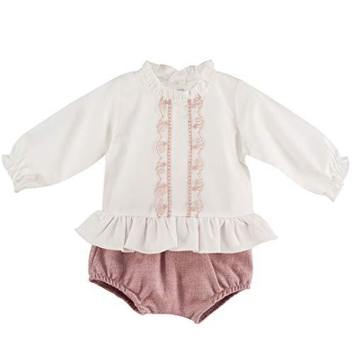 CALAMARO - Conjunto POLOLO Bebe bebé-niños Color: Rosa Talla: 6M