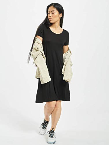 Only Onlbera Back Lace Up S/s Dress Jrs Noos Vestido, Negro (Black Black), 40 (Talla del Fabricante: Medium) para Mujer