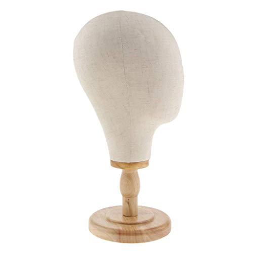 Backbayia Mannequin-Kopf aus Segeltuch, mit Ständer für Perücke, Aufbewahrung für Hut