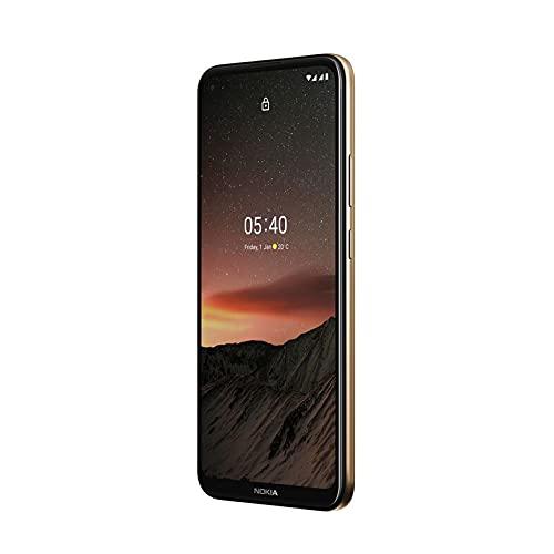 Nokia 5.4 Smartphone mit 6,39-Zoll-HD+-Display, 4 GB RAM, 128 GB Speicher, 48-MP-Vierfach-Kamera, Qualcomm Snapdragon 662, 2 Tagen Akkulaufzeit und Android-Upgrades, Dual-SIM - Midnight Sun - 5
